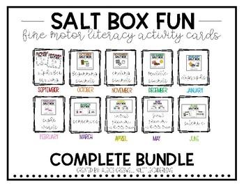 Fine Motor Salt Box Literacy Activities