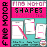 Fine Motor Shapes Tracing Cards