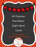 Fine Motor Sight Word Cards