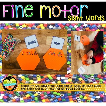 Fine Motor Sight Words