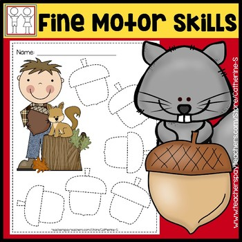 Fine Motor Skill Activities - Autumn Fall Acorn