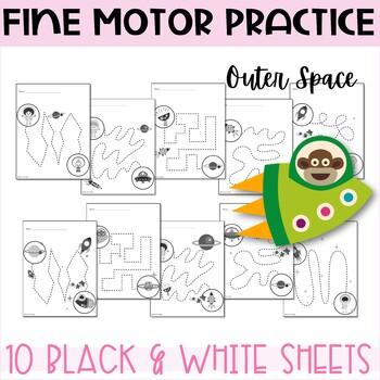 Fine Motor Skill Practice - Space Theme