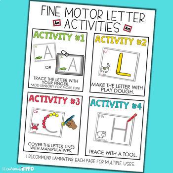 Fine Motor Skills Activities - Alphabet Bundle