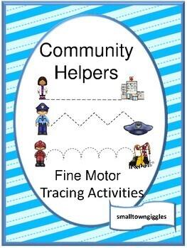 Fine Motor Skills Tracing Activities Community Helpers Special Education