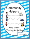 Community Helpers Tracing Activities, Fine Motor Skills, Special Education