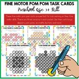 Fine Motor Skills Activities - Pom Pom Task Cards Fall
