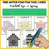 Fine Motor Skills Activities - Pom Pom Task Cards Spring