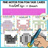 Fine Motor Skills Activities - Pom Pom Task Cards Summer