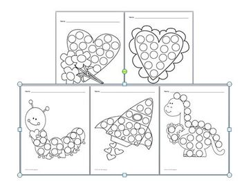 Fine Motor Skills Activity Bingo Dabber Pictures Valentine S Day By