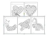 Fine Motor Skills Activity Bingo Dabber Pictures Valentine's Day