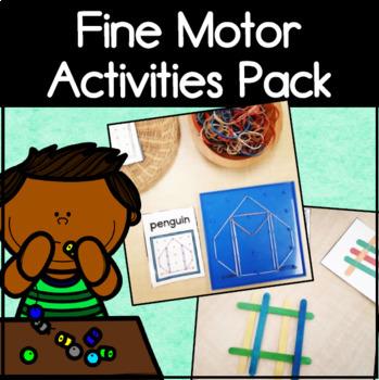 Fine Motor Skills Activity Pack and Centers for Kindergarten