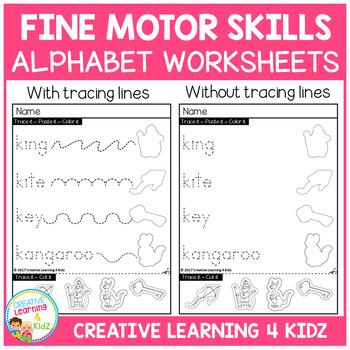 Fine Motor Skills Alphabet Worksheets