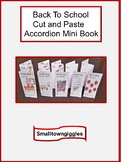 Fine Motor Skills Back To School Cut & Paste Mini Accordio