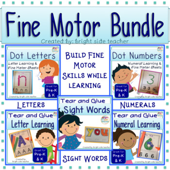 Fine Motor Skills Bundle for Letters, Numerals and Sight Words