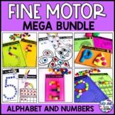 Fine Motor Activities for Kindergarten | Alphabet and Numb