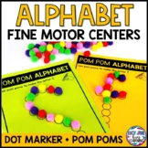 Fine Motor Skills Centers {Dot Marker Alphabet and Pom Pom