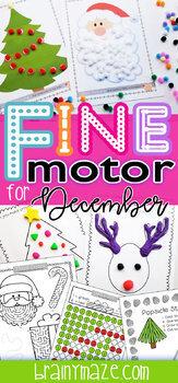 Fine Motor Skills: December Activity Pack