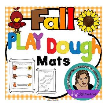 Fine Motor Skills - Fall Play Dough Mats - 28 Mats in Three Fun Styles