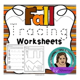 Fine Motor Skills - Fall Themed Line Tracing Worksheets