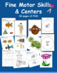 Fine Motor Skills Galore: 36 Activities and Task Cards- Perfect Centers