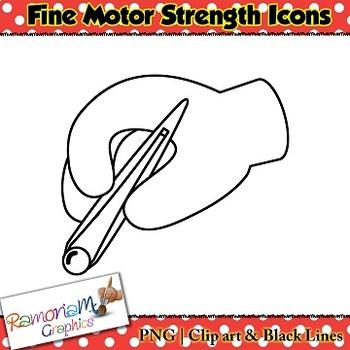 Fine Motor Skills Icons Clip art