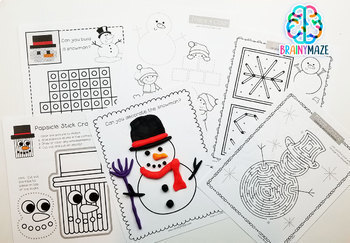 Fine Motor Skills: January Activity Pack