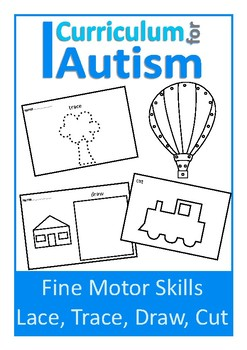 Fine Motor Skills Lace, Trace, Cut, Draw, Autism & Special Education