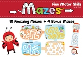 Fine Motor Skills Mazes & Tracing & Coloring for Preschool
