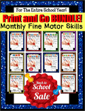 Fine Motor Skills Monthly BUNDLE for Entire Year and DATA (Special Education)