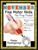FINE MOTOR SKILLS Worksheet Packet for NOVEMBER