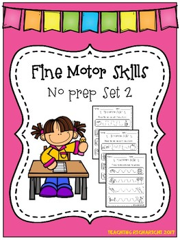 Fine Motor Skills No Prep Set 2