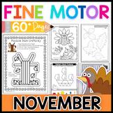 Fine Motor Skills: November Activity Pack