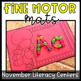 Fine Motor Skills Mini Mats- November Literacy Centers, Thanksgiving Activities