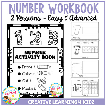 Fine Motor Skills Number Activity Book