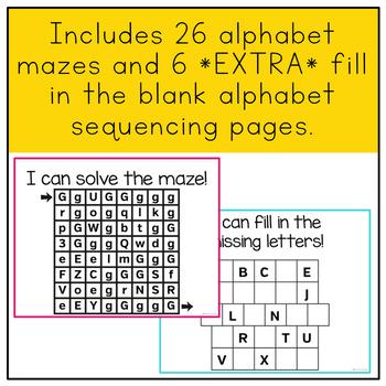 Fine Motor Skills Practice (Alphabet Mazes)