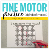 Fine Motor Skills Practice (Alphabet Mazes) | Distance Learning