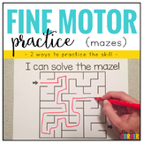 Fine Motor Skills Practice (Mazes)