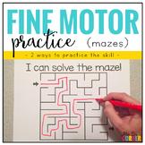 Fine Motor Skills Practice (Mazes) | Distance Learning