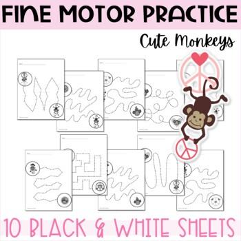 Fine Motor Skills Practice - Monkey Love