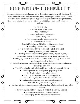 Fine Motor Skills Practice Packet:  For Teachers, Aides and Parents