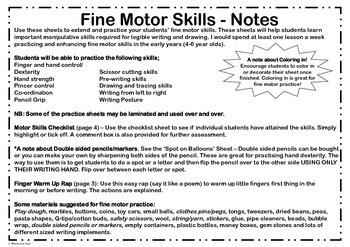 Fine Motor Skills Practice Sheets