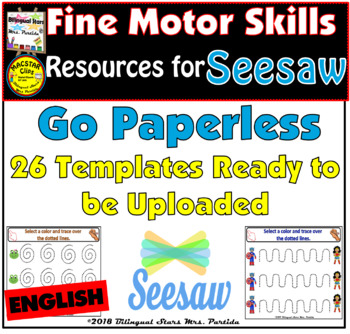 Fine Motor Skills Pre-Writing Activities in English for Seesaw