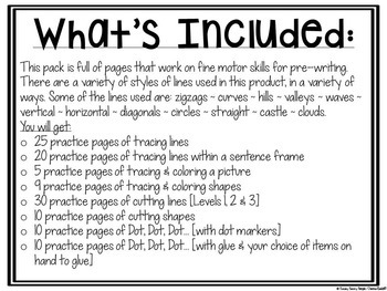Fine Motor Skills Pre-Writing Practice