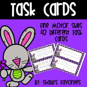 Spring Fine Motor Skills Task Cards {Tracing}