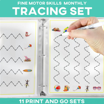 Fine Motor Skills Tracing 11 Monthly Sets Tracing