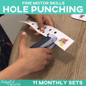 Fine Motor Skills Tracing 11 Monthly Sets Hole Punching