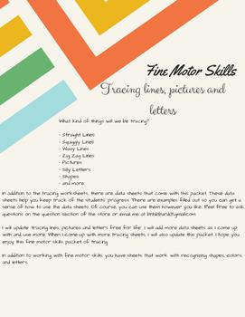 Fine Motor Skills: Tracing