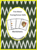 Fine Motor Skills Tracing Lines Cutting Practice Special E