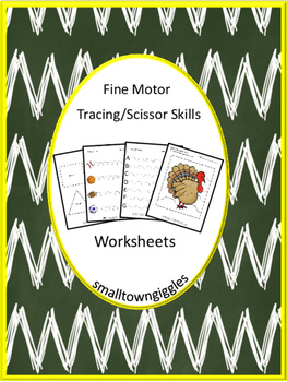 Fine Motor Skills Tracing Lines Cutting Practice Special Education Autism