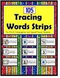 Fine Motor Skills Tracing Words with Visuals PLUS Data